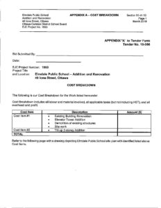 Click here to see the tender form | McDonald Brothers